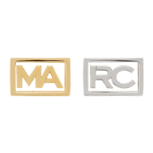 Marc Jacobs Gold & Silver Marc Two Finger Ring Set