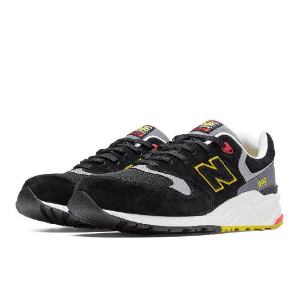 New Balance 999 Elite Edition Pinball Men's Elite Edition Shoes - Black/Light Grey/Yellow (ML999PB)
