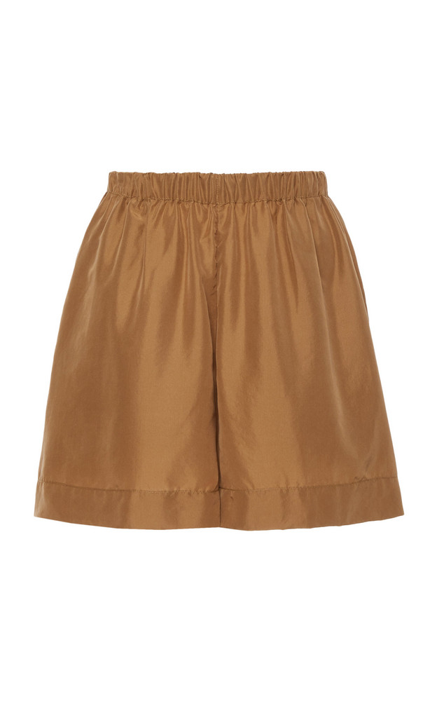 Vince Pleated Pull-On Mini Shorts Size: XXS in brown
