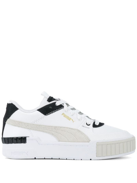 Puma chunky lace-up trainers in white
