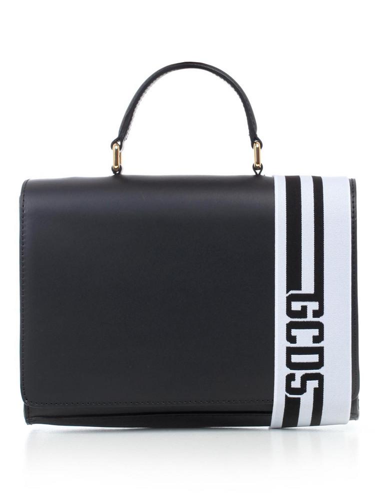 Gcds Logo Stripe Shoulder Bag in black
