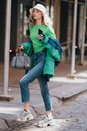 jacket,green,green jacket,elsa hosk,model off-duty,instagram,sneakers