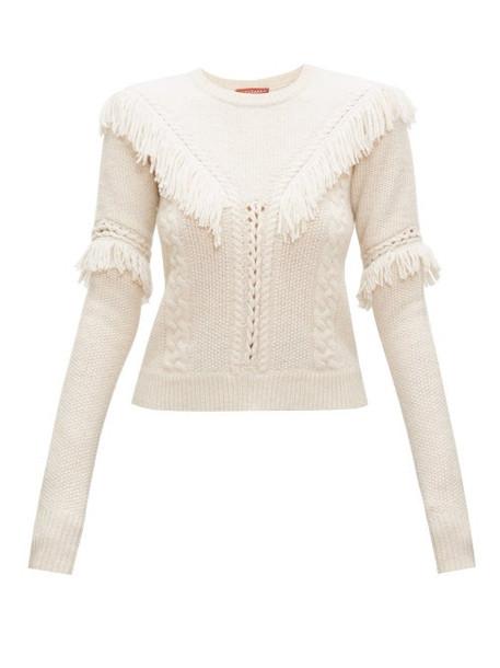 Altuzarra - Buckeye Fringed Sweater - Womens - Ivory