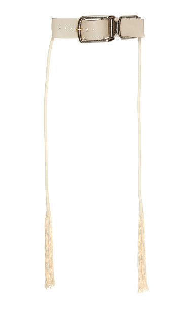 Marni Buckles Tassel Waist Belt in white