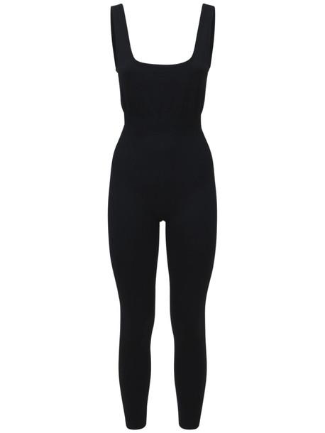WEWOREWHAT Rib Jumpsuit in black