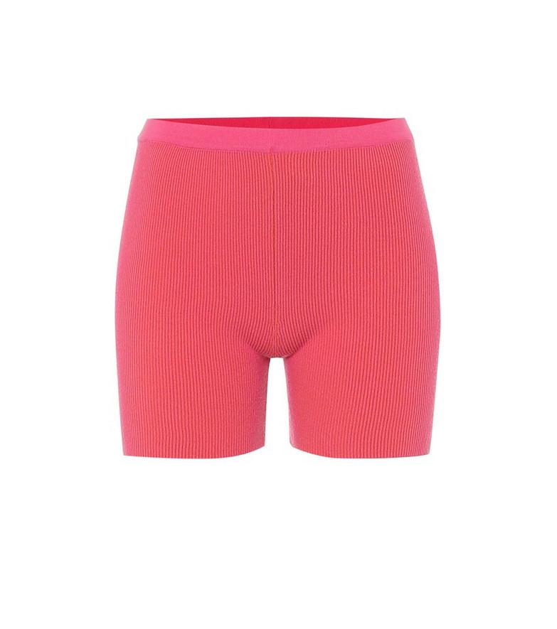 Jacquemus Le Short Arancia ribbed-knit shorts in pink