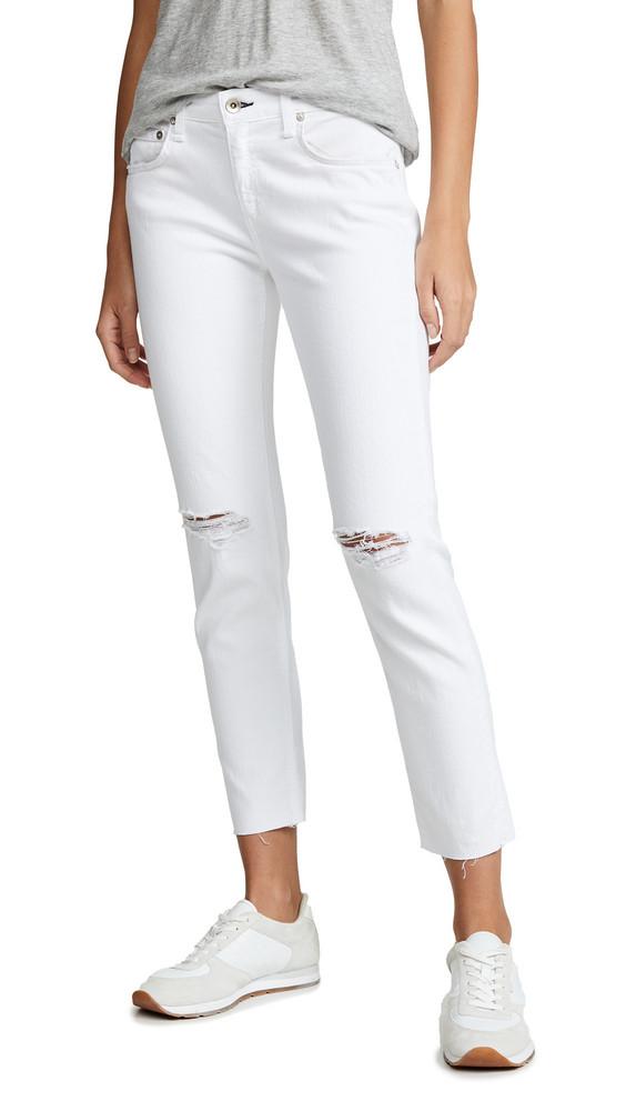 Rag & Bone/JEAN Ankle Dre Jeans in white
