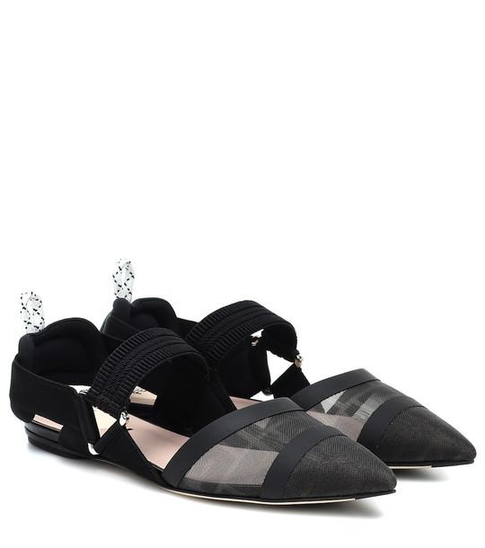 Fendi Colibrì slingback ballet flats in black