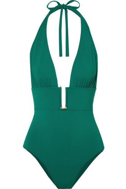 I.D. Sarrieri - Rêve D'été Halterneck Swimsuit - Emerald