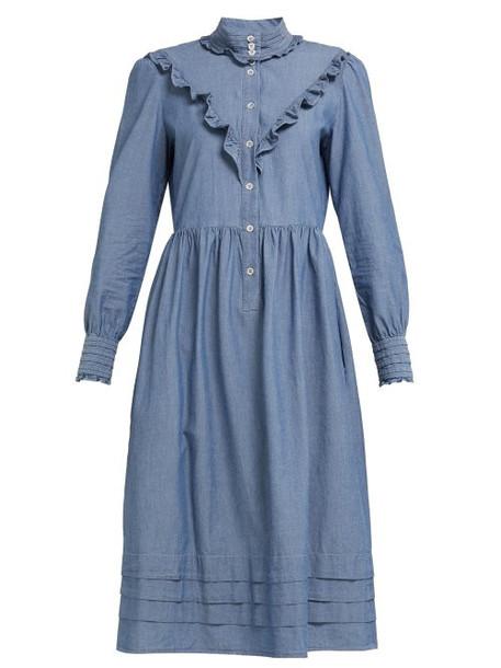 A.P.C. A.p.c. - Nicks Chambray Midi Dress - Womens - Denim