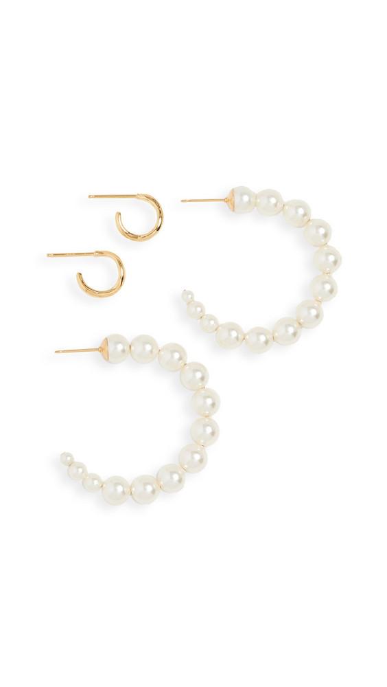 Chan Luu Hoop Earrings Set in cream