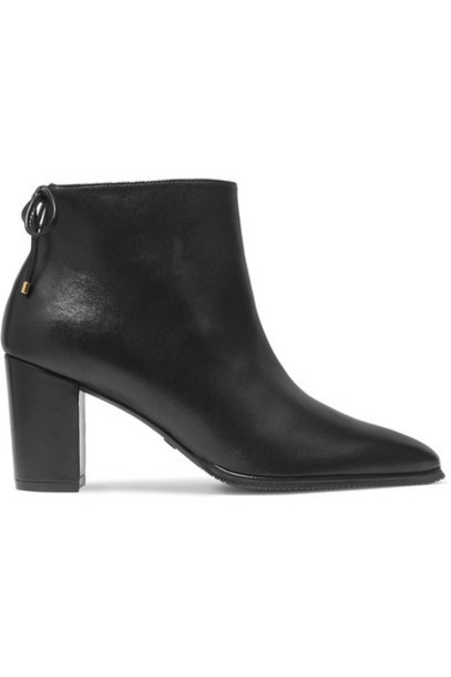 Stuart Weitzman - Gardiner Leather Ankle Boots - Black