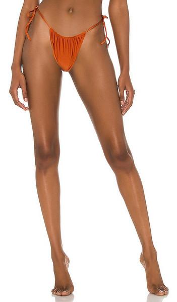VDM Marley Reversible Bikini Bottom in Rust in metallic
