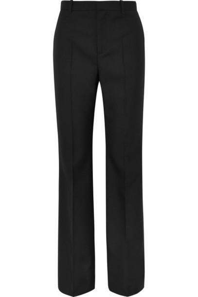 Balenciaga - Wool-gabardine Straight-leg Pants - Black