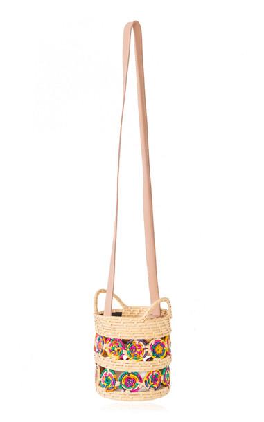Nannacay Iris Raffia Shoulder Bag in multi