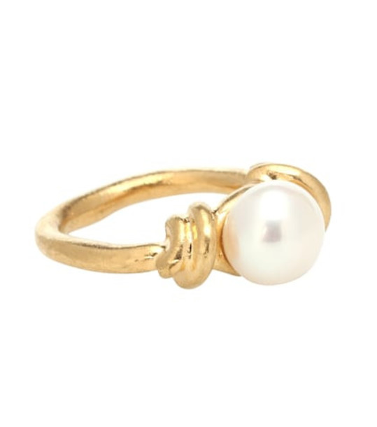 Acne Studios Pearl ring in gold
