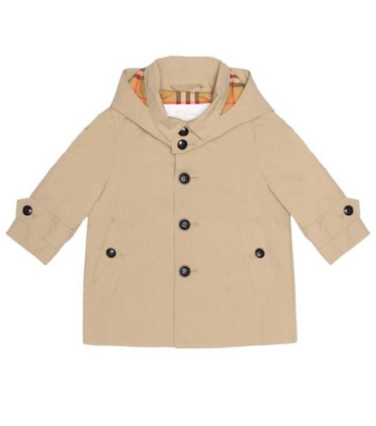 Burberry Kids Cotton trench coat in beige / beige
