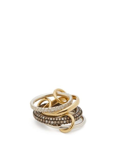 Spinelli Kilcollin - Vega Ccw 18kt Gold, Sterling Silver & Diamond Ring - Womens - Gold