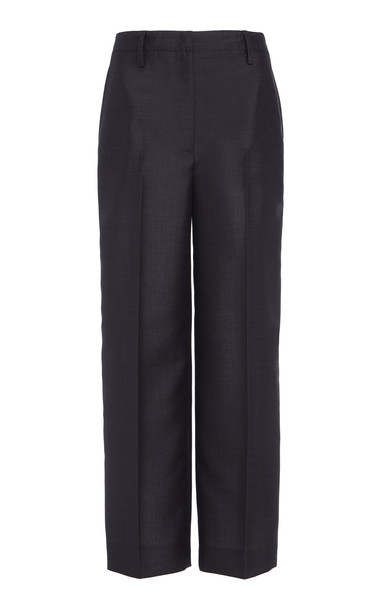Prada Pleated Ankle-Length Trouser in grey