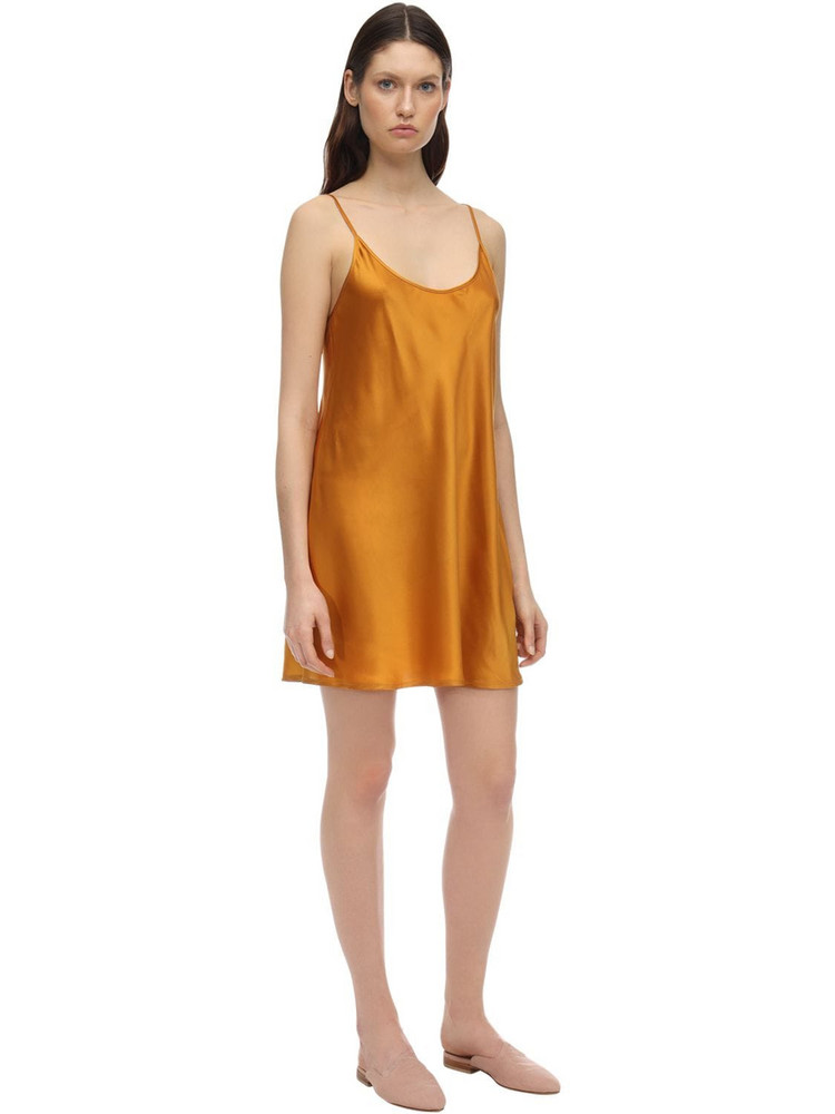 LA PERLA Silk Slip Dress in yellow