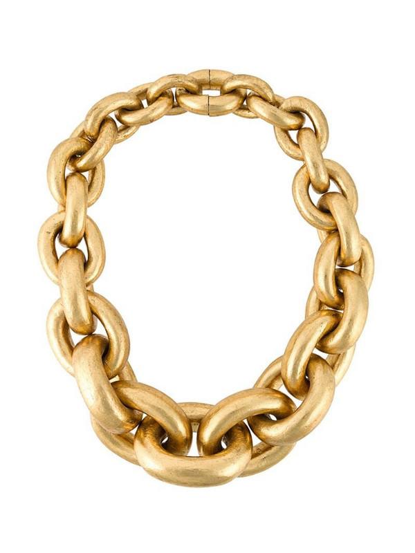 Monies chain necklace in metallic