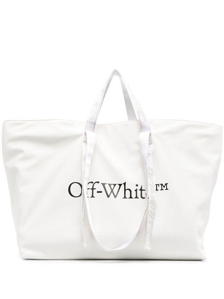 Off-White Commercial tote bag in white