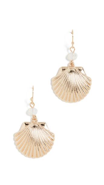 Shashi Sea Shore Earrings in gold