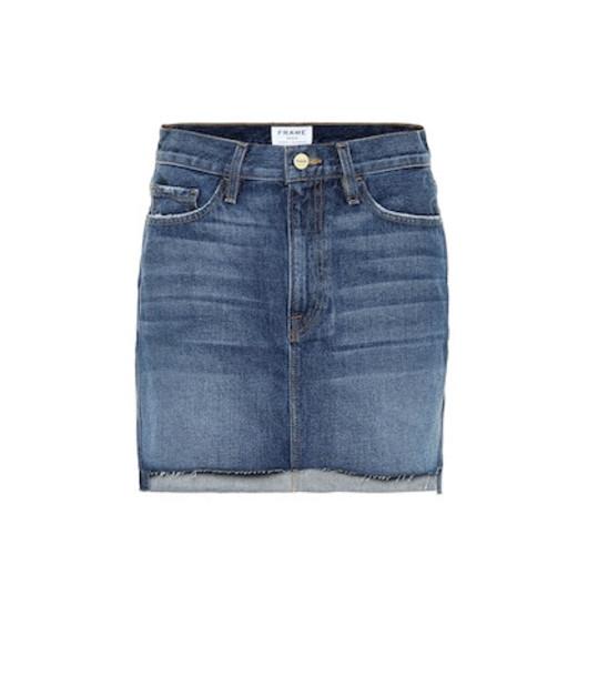 Frame Le Mini denim miniskirt in blue