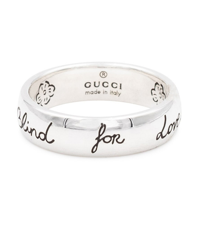 Gucci Engraved sterling silver ring