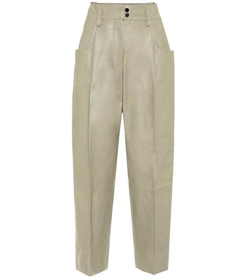 Petar Petrov Harris high-rise leather pants in beige