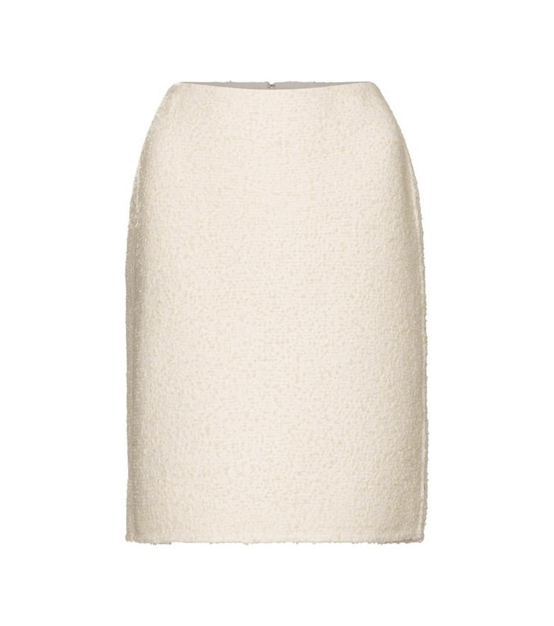 Marc Jacobs Wool-blend bouclé pencil skirt in white