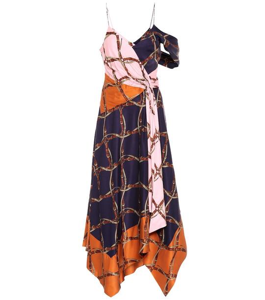 Jonathan Simkhai Printed satin maxi dress