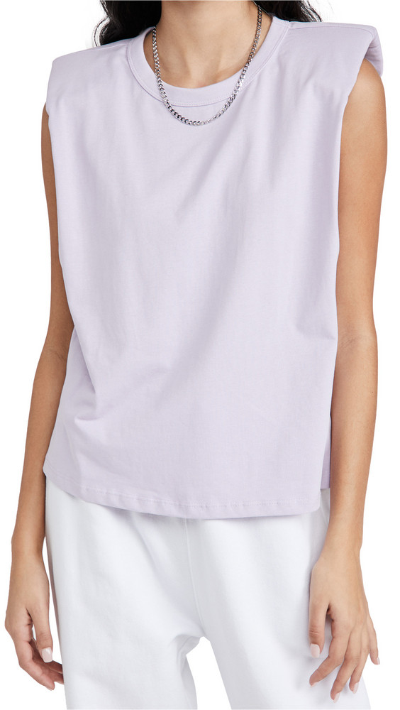 endless rose Padded Shoulder T-Shirt in lilac