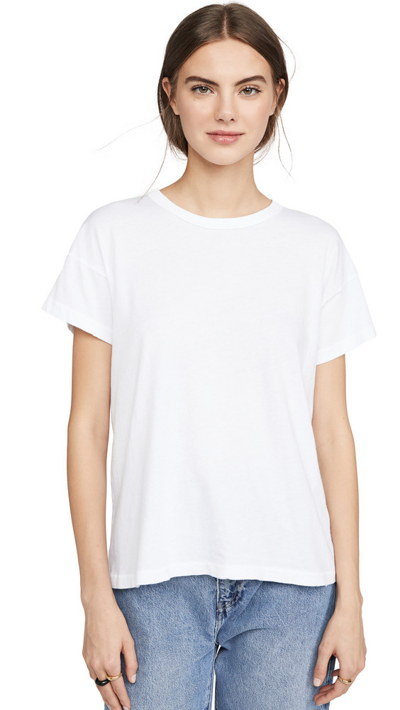 THE GREAT. THE GREAT. The Boxy Tee in white