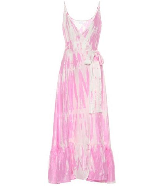 Anna Kosturova Exclusive to Mytheresa – tie-dye silk dress in pink