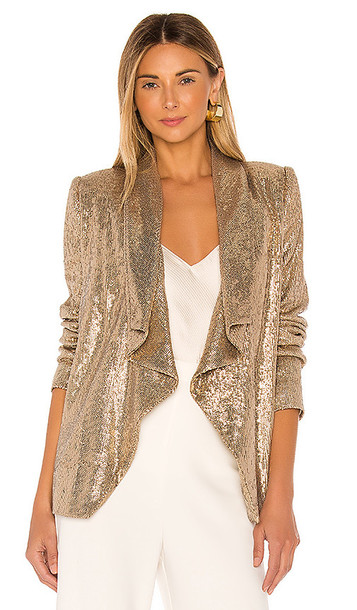 RACHEL ZOE Lena Jacket in Metallic Gold