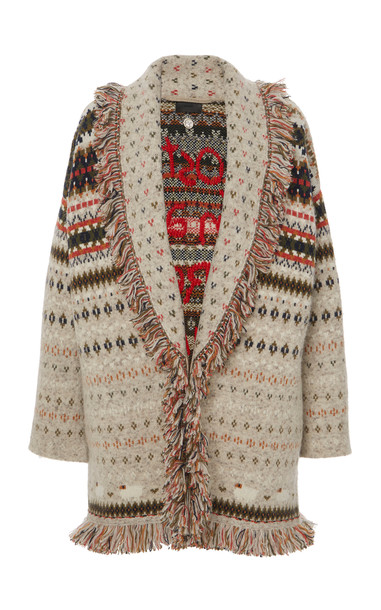 Alanui Lost In A Forest Embroidered Cashmere Cardigan in multi
