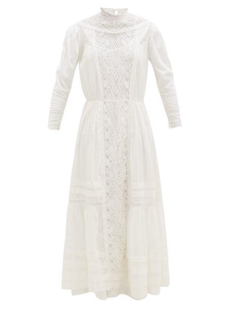Mimi Prober - Victoria Crochet-front Cotton-voile Dress - Womens - Ivory