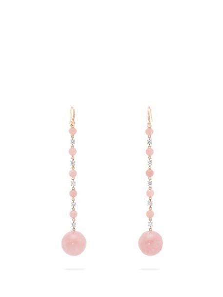 Irene Neuwirth - Diamond, Opal & 18kt Rose Gold Earrings - Womens - Pink