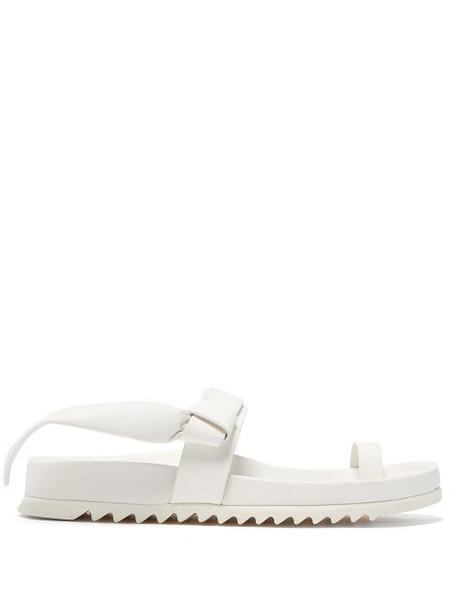 Rick Owens - Granola Leather Slides - Womens - White