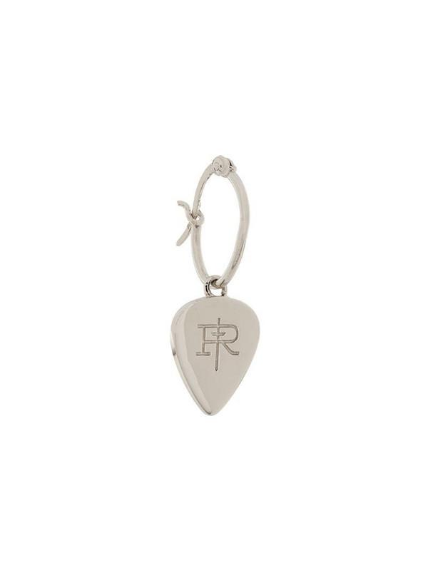 True Rocks plectrum hoop earrings in silver