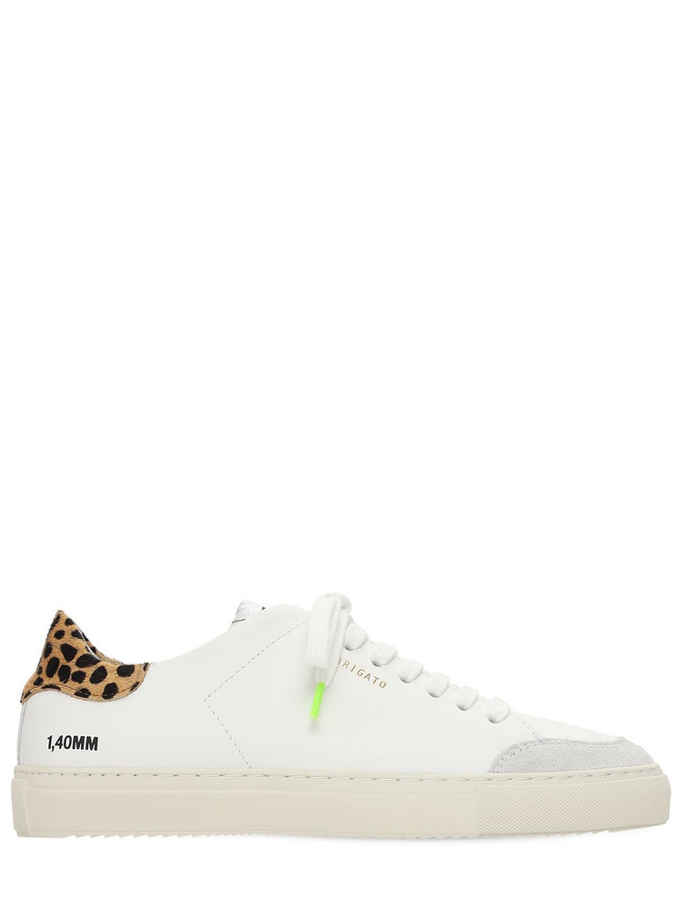AXEL ARIGATO 20mm Clean 90 Leather & Suede Sneakers in white / multi
