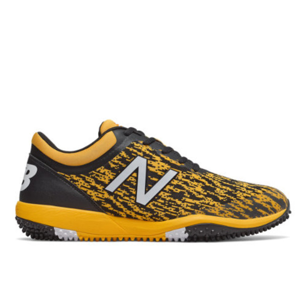 New Balance 4040v5 Turf Men's Cleats and Turf Shoes - Black/Yellow (T4040BY5)