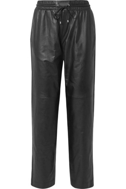 KENZO - Leather Track Pants - Black