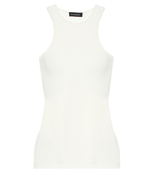 Goldsign The Rib stretch-jersey tank top in white