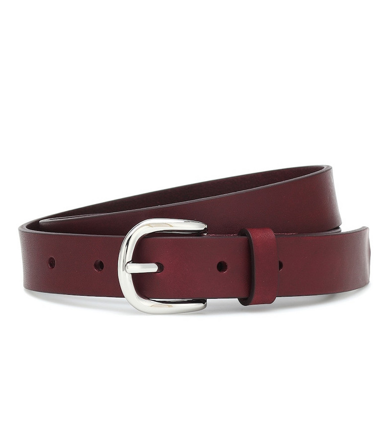 Isabel Marant Zap leather belt in red