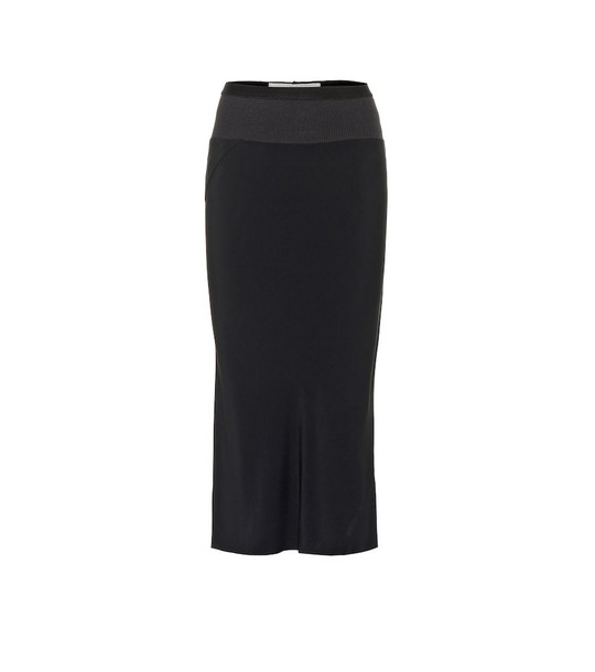 Rick Owens High-waisted midi skirt in black