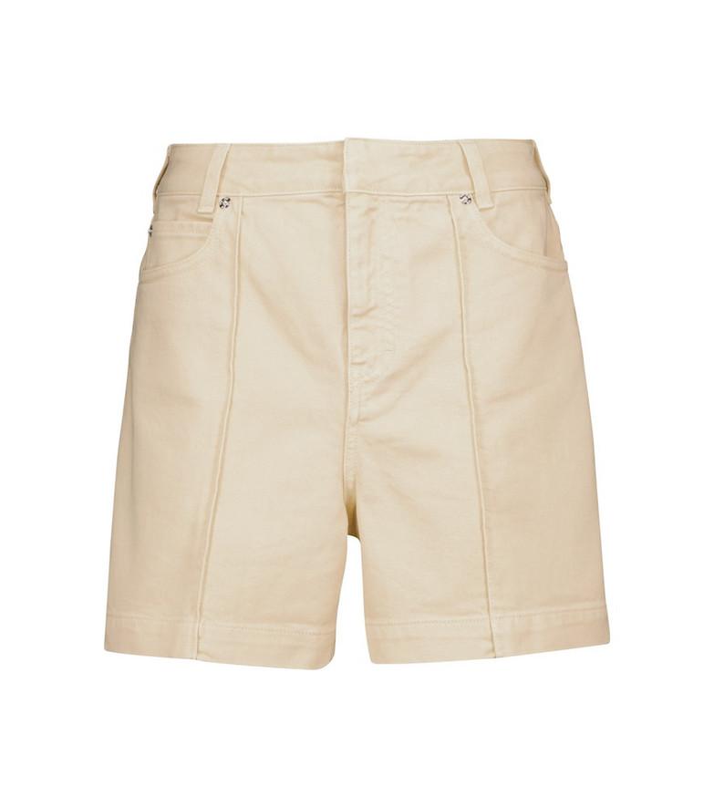 Victoria Victoria Beckham High-rise denim shorts in beige