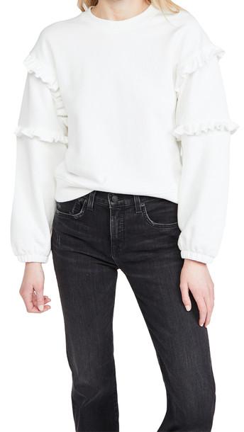Rebecca Minkoff Evelyn Sweatshirt in white