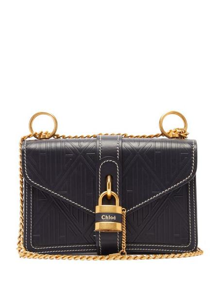 Chloé Chloé - Aby Leather Shoulder Bag - Womens - Navy